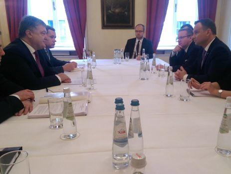 ВМюнхене начались переговоры Порошенко сДудой— Цеголко