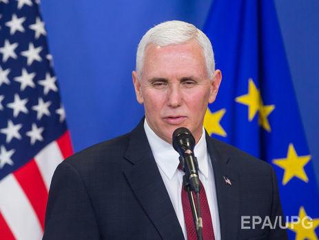 Вице-президент США призывает соблюдать перемирие наДонбассе