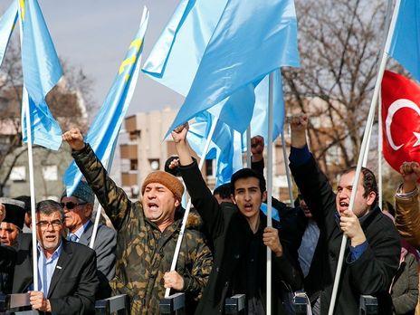 ВАнкаре состоялся митинг против присоединения Крыма к Российской Федерации