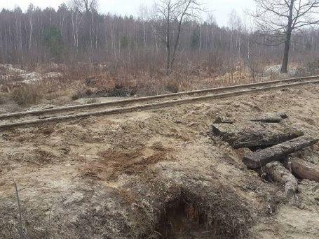 НаРовенщине копатели янтаря повредили железнодорожные пути