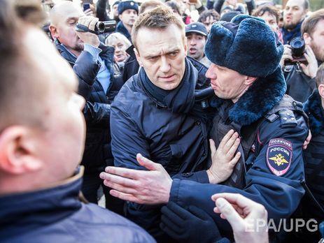 Навальный не признает вину по делу об организации незаконного митинга