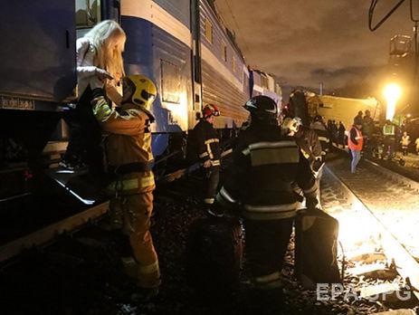 Крушение поезда Москва— Брест зафиксировали навидео