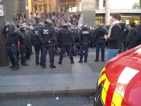 Протестующие столкнулись с полицией