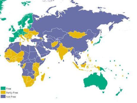 Freedom House включила Армению вчисло стран снесвободными СМИ