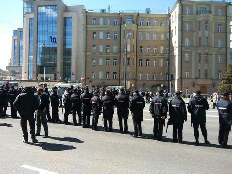 НаБолотной задержали семерых участников митинга против репрессий