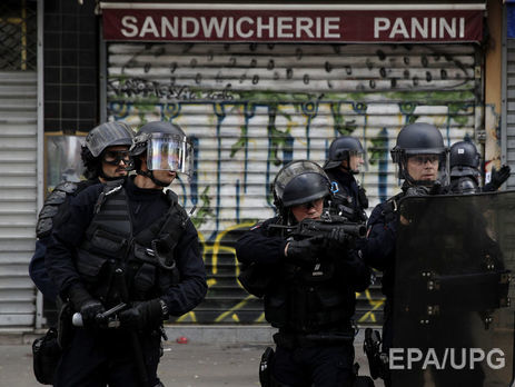 На «антикапиталистических» протестах встолице франции задержали 141 человека