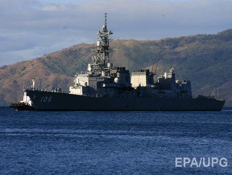 Американский крейсер вЯпонском море столкнулся срыбацкой шхуной