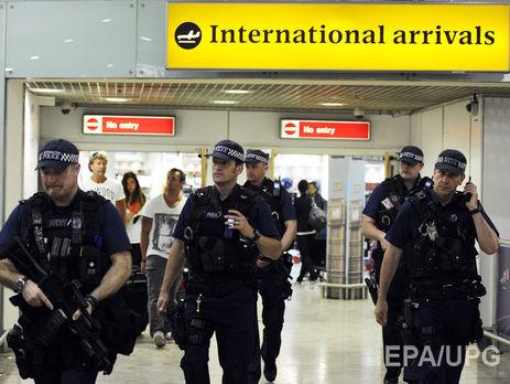Ваеропорту Лондона затримали чоловіка за підозрою у підготовці терактів