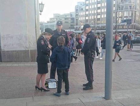 Милиция проводит проверку после задержания ребенка вцентре столицы