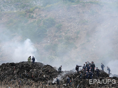 НаГрибовицькому сміттєзвалищі знову виникла пожежа