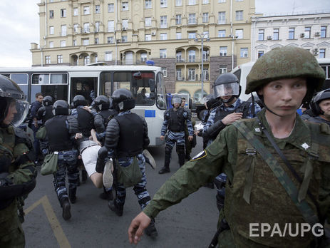 Наантикорупційній акції вМоскві затримали вже більше 400 осіб— ЗМІ