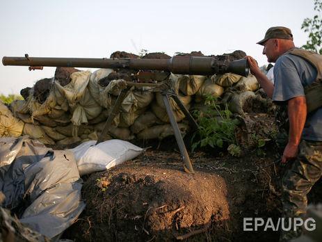 ВДонбассе засутки ранен один украинский военный, погибших нет