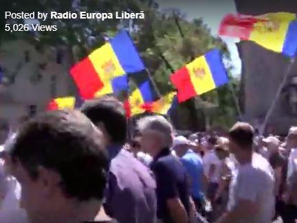 Митинг против смешанной избирательной системы вМолдавии проходит ввоскресенье вКишиневе