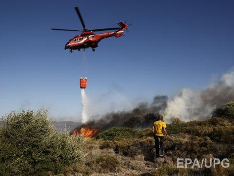 Передмістя Афін охопили лісові пожежі [ Редактировать ]