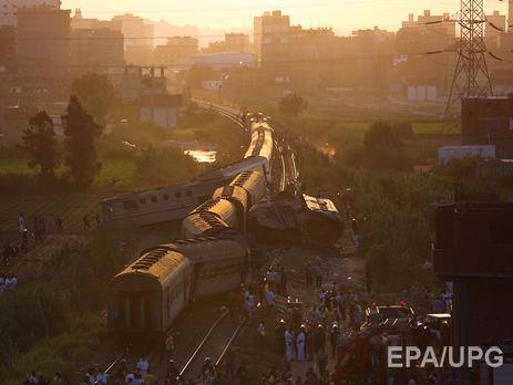 Число жертв крушения поездов в Египте возросло до 49 человек