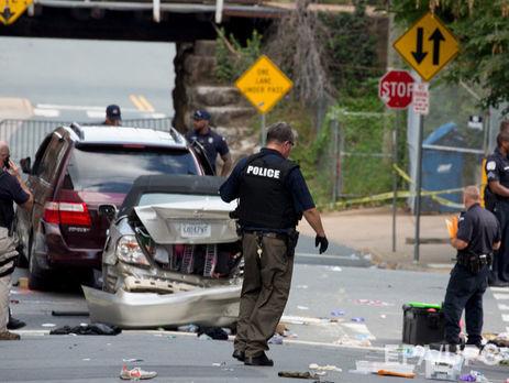 За наезд на людей в Шарлотсвилле полиция задержала 20-летнего парня