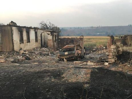 ВДонецкой области пожар практически уничтожил село