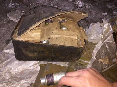 Вблизи линии разграничения наДонбассе отыскали тайник свзрывчаткой