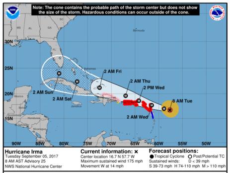 Новый тропический шторм «Катя» движется кберегам США