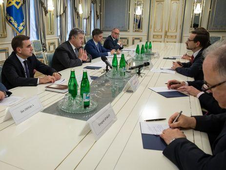 Порошенко иминистр иностранных дел Эстонии совместно  помечтали омиротворцах вДонбассе