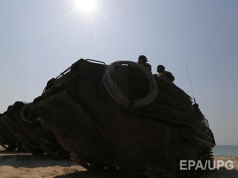 ЧПнавоенной базе, что вКалифорнии: зажегся танк-амфибия