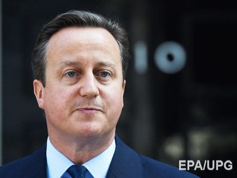 Кемерон заявив, що після Brexit Великобританія стала більше співпрацювати з Україною