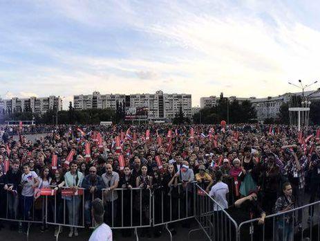 Намитинге Навального вОмске собрались практически 4 тысячи человек