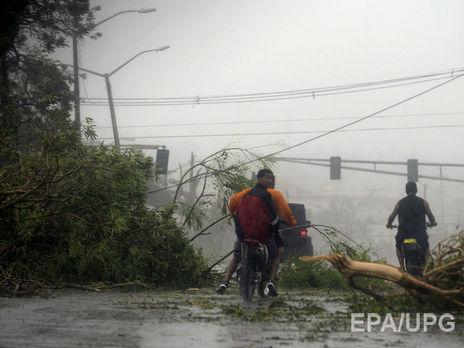 Остров Пуэрто-Рико остался без электричества из-за урагана «Мария»