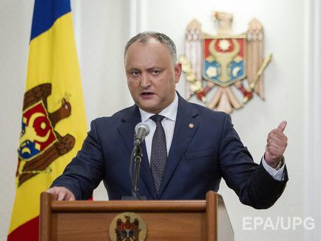 ВМолдавии либералы хотят убрать Додона споста президента