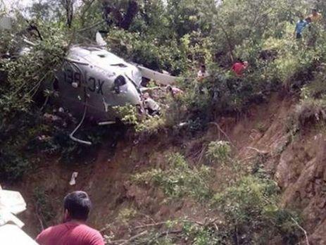 ВМексике упал перевозивший помощь пострадавшим отземлетрясения вертолет