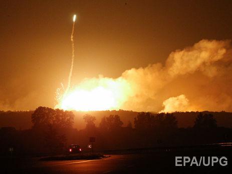 Штаб: Інтенсивність вибухів напалаючому складі боєприпасів біля Вінниці пішла наспад