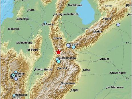 На півночі Колумбії стався потужний землетрус