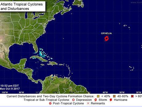 ВАтлантичному океані сформувався шторм «Офелія»