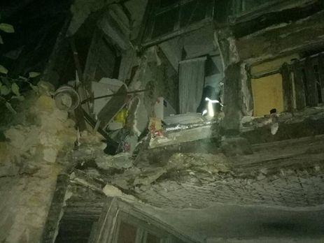 ВОдессе обвалилась стена жилого многоквартирного дома