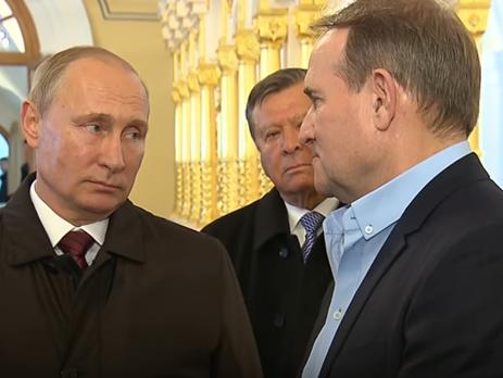 Путин пообещал Медведчуку поговорить с главарями боевиков