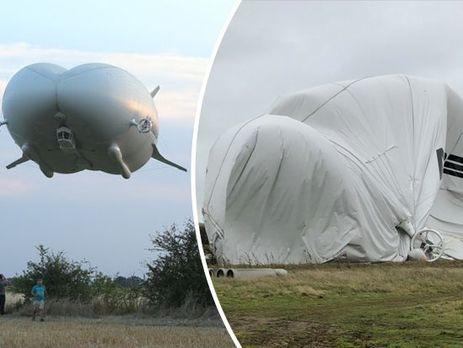 УВеликобританії розбився найбільший усвіті дирижабль