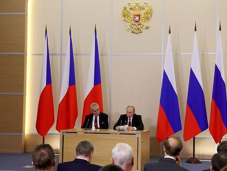 Президент Чехії прогнувся перед Путіним