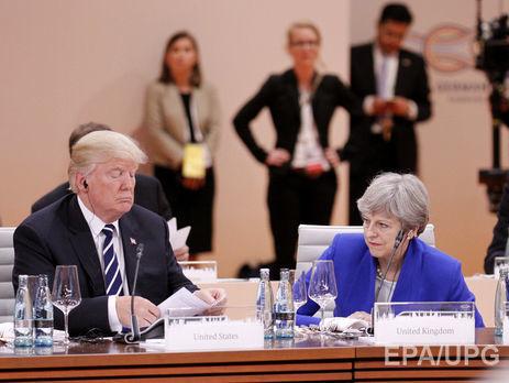 Трамп закликав Мей сфокусуватися наборотьбі зтероризмом