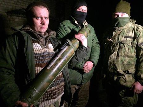 НаДонбассе силы АТО отбили убоевиков русский огнемет