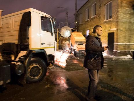 «Нет трактористов»: Кличко разочаровался вспецтехнике поуборке снега