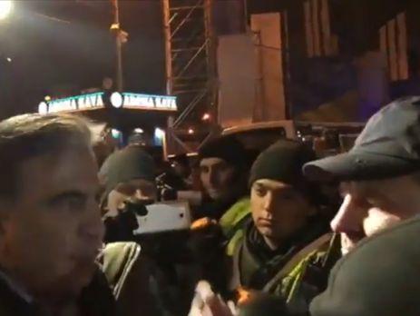Саакашвили утверждает, что глава полиции Шевченковского района Киева мешал установке сцены