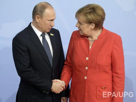 Владимир Путин иАнгела Меркель обсудили потелефону ситуацию вДонбассе