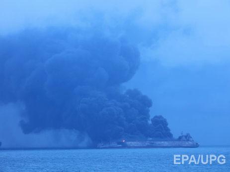 Иранский танкер горит, спасательная операция уберегов Китая продолжается