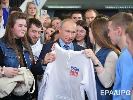 Після введення запиту про вибори президента Росії в 2018 році Google показувала довідку про Путіна
