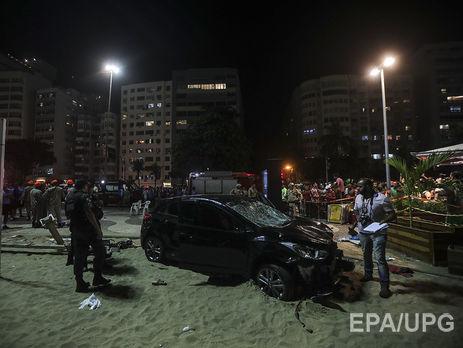Машина сбила около как минимум 15 человек нанабережной вРио