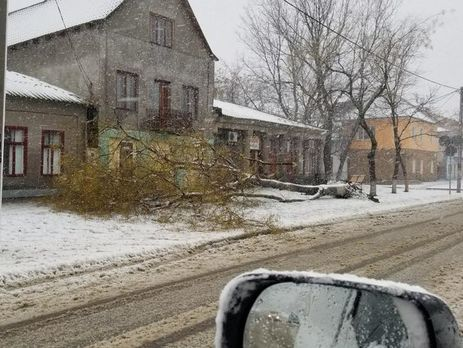 Наюге Одесской области электростолбы поломало как спички