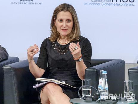Фриланд - украинцам: Не делайте реформы для Запада. Вы должны делать их для себя