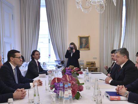 Порошенко обсудил с Моравецким польский закон об Институте нацпамяти, экономическое и военно-техническое сотрудничество