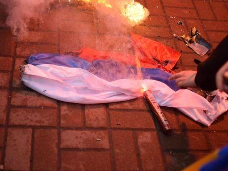 Россия направила в украинский МИД ноту в связи с акцией националистов под зданием Россотрудничества в Киеве