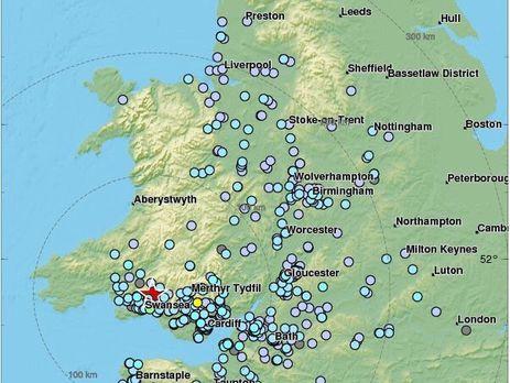 В Великобритании произошло крупнейшее за 10 лет землетрясение